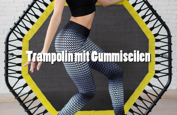 Trampolin mit Gummiseilen